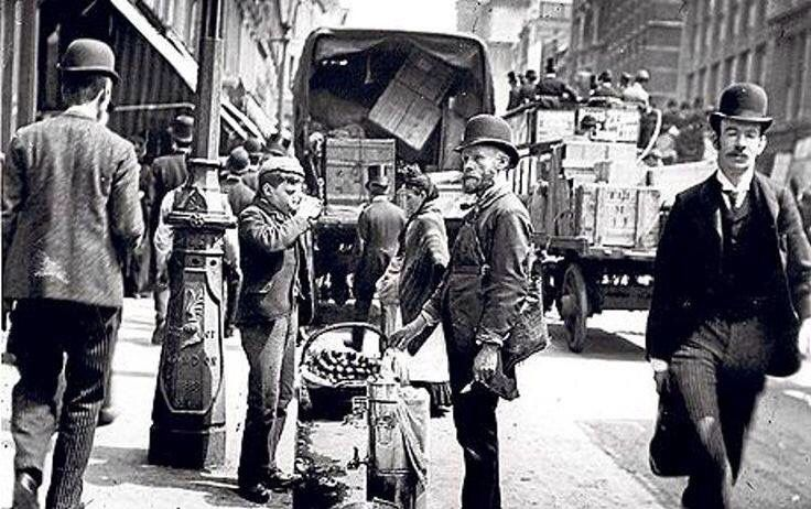 Sherbet and water seller in Cheapside, London  circa 1900