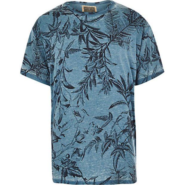 Botanische Island Holloway T Print Road River Mensblue shirt KJlFc13T
