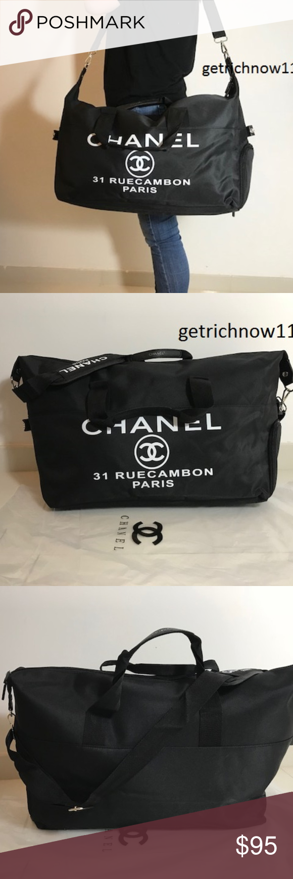353de0467739 Chanel VIP Nylon Travel Bag Duffle Gym new Large ! Brand New Authentic  Chanel