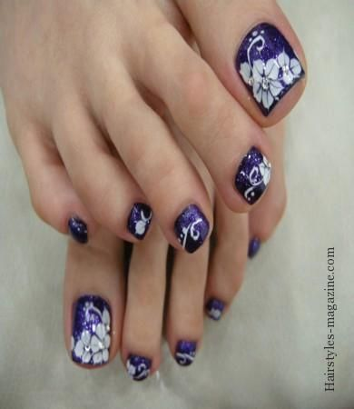 White Flowers Nail Art Design Some Great Toe Nails Ideas