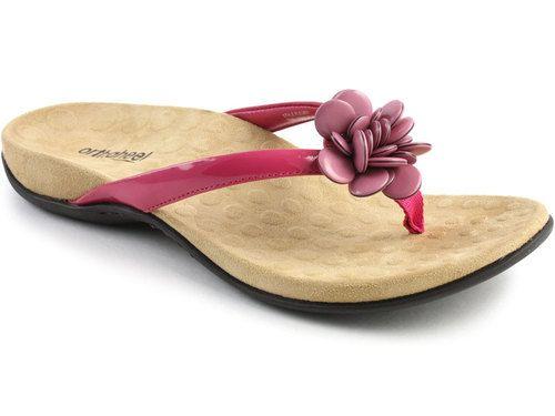 Orthaheel Women'S Arch Support Flip Flop Fleur II Raspberry 10 MSRP $75 NEW | eBay. My new pink flip flops 8/27/2013. -CAB