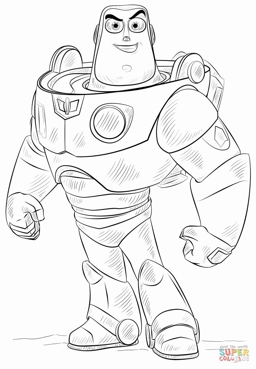 Buzz Lightyear Coloring Page New Buzz Lightyear Coloring