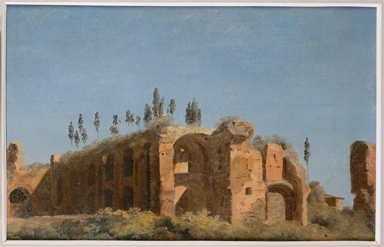 Pierre-Henri de Valenciennes | A la villa Farnèse : les ruines | Images d'Art