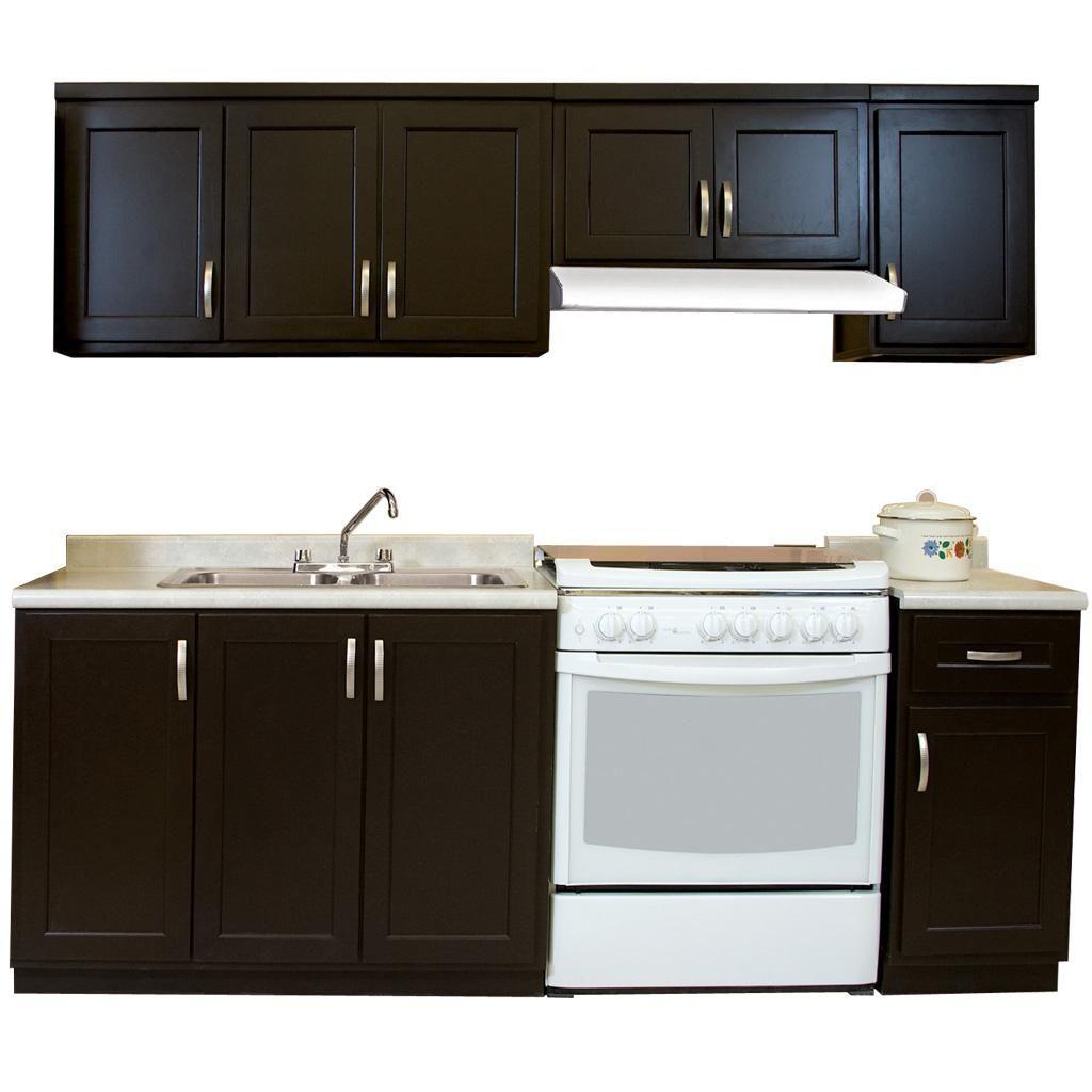 Cocineta celia m fabricada en madera de pino for Puertas de cocina modernas