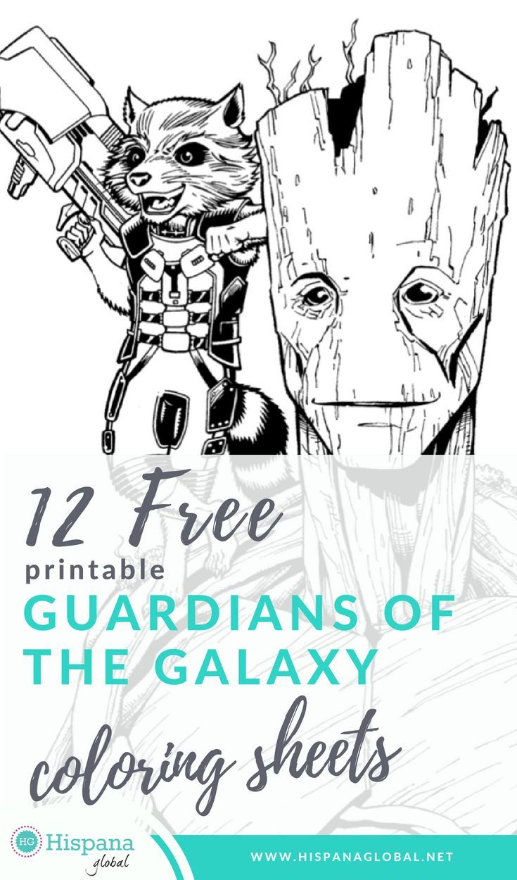 free printable guardians of the galaxy coloring sheets hispana