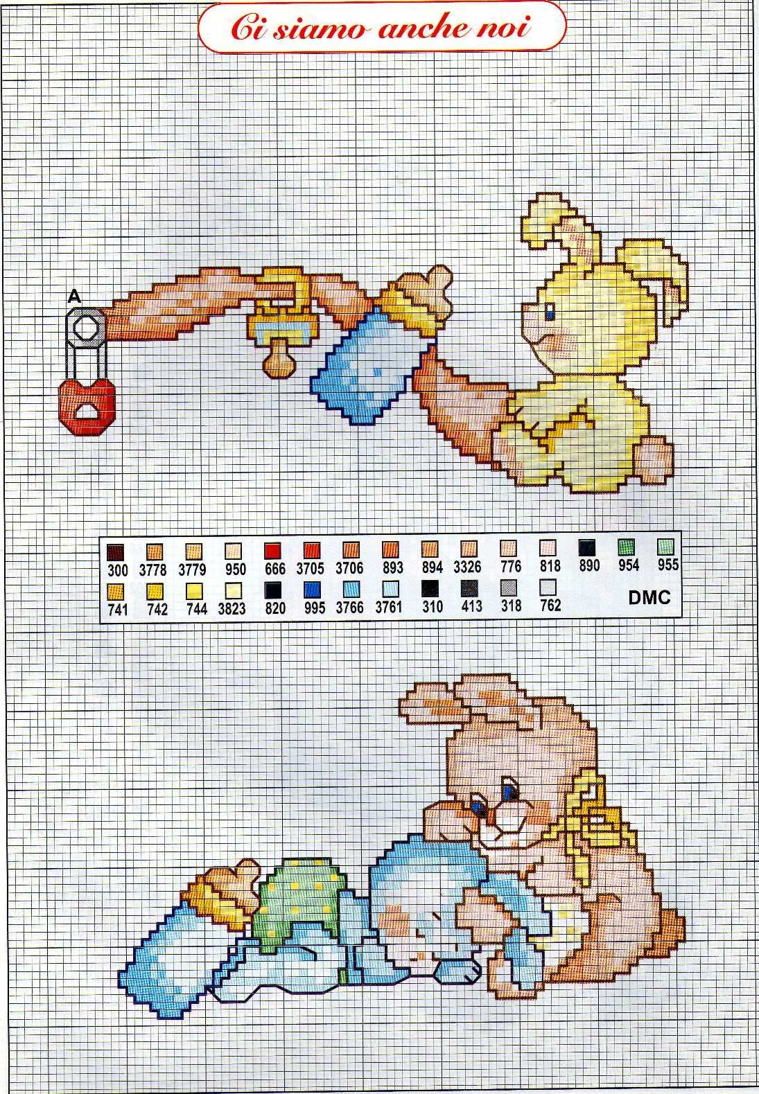 Bambini coniglietti ciuccio 1095 1579 for Punto croce schemi bambini