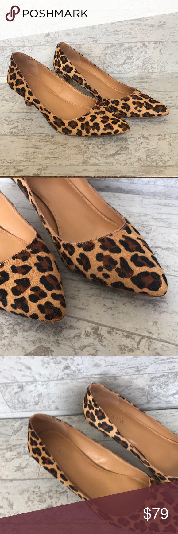 J Crew Esme Leopard Kitten Heels Fashion Outfit Shoes Fashion Outfits