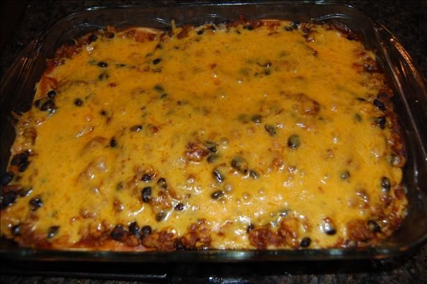 Ground Beef Tortilla Layer Casserole Taco Lasagna - Easy to make but I don't like corn tortilla's, I will go with flour tortilla's and top with sour cream - YUM!Taco Lasagna - Easy to make but I don't like corn tortilla's, I will go with flour tortilla's and top with sour cream - YUM!