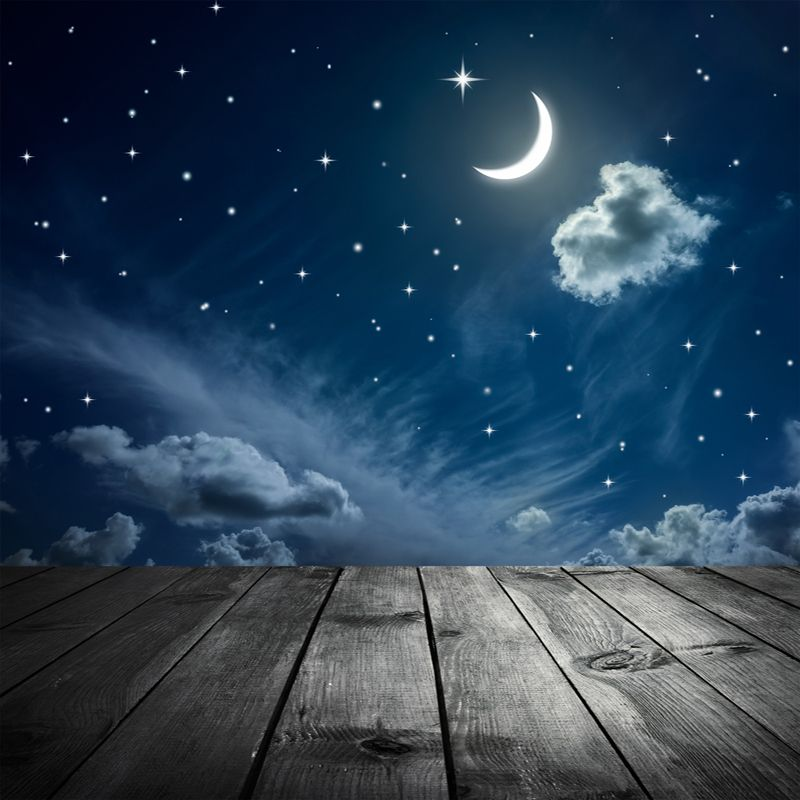 Theme Wedding Backdrop Moon Star Clouds Photography ...