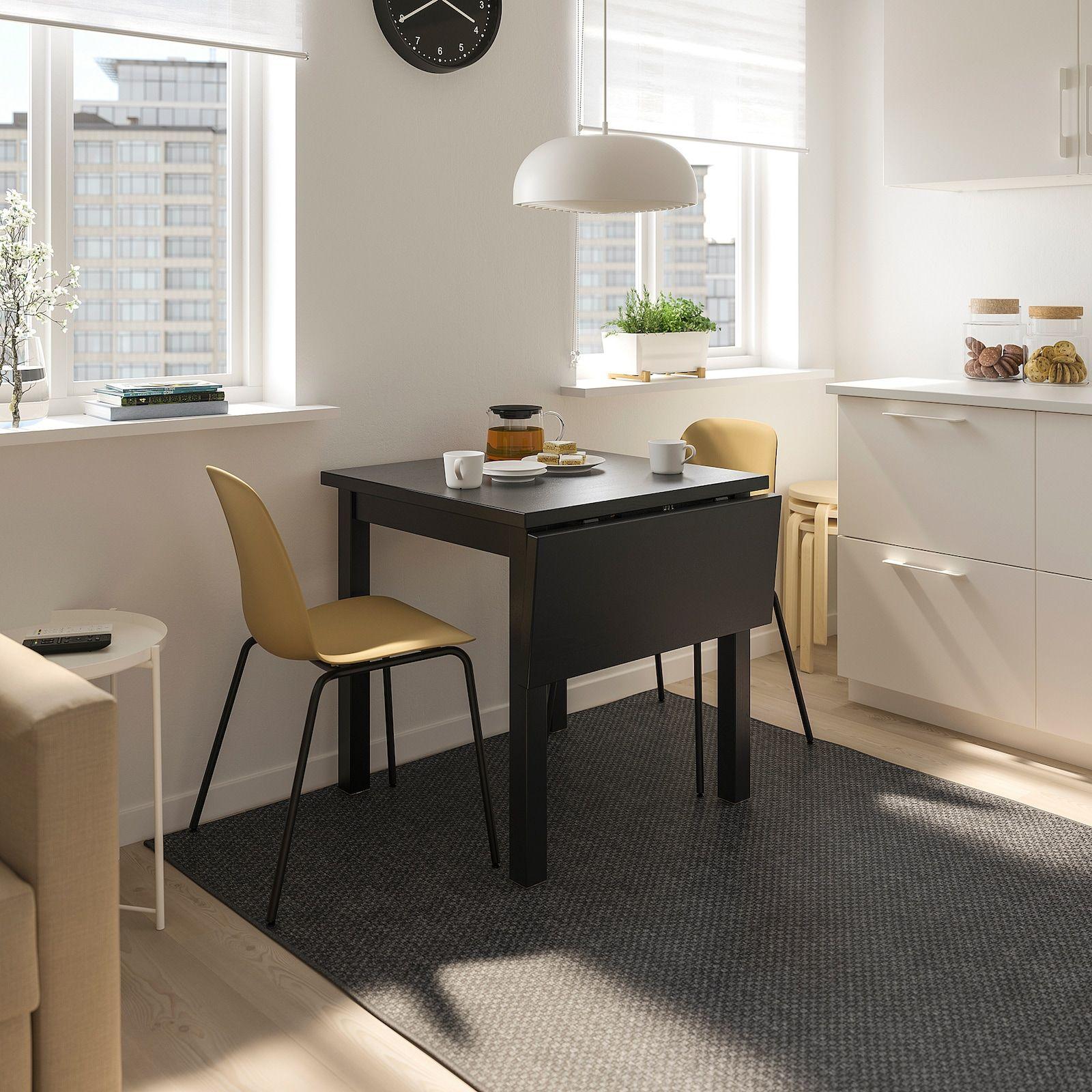 nordviken  leifarne table and 2 chairs black broringe