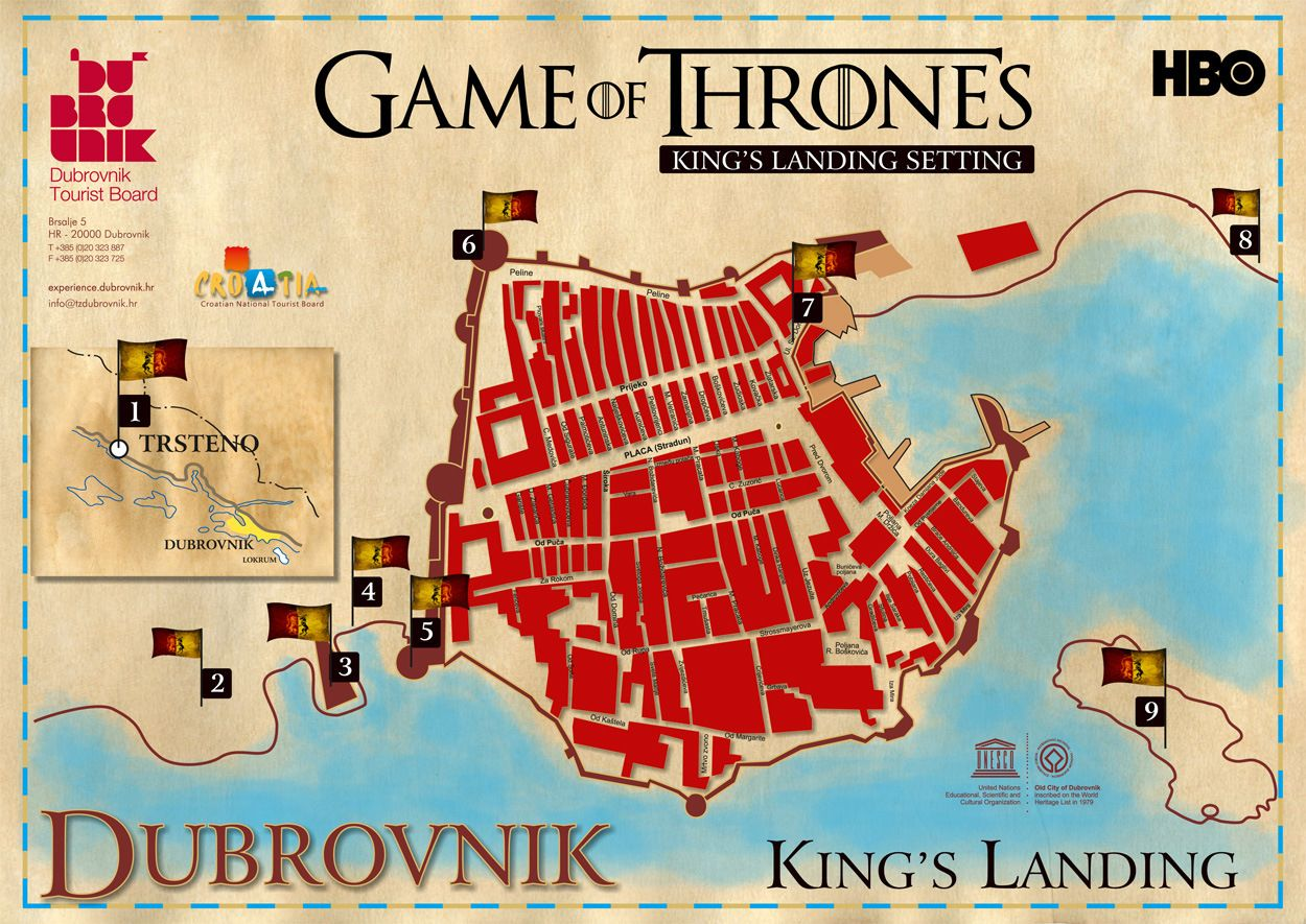 Discover dubrovnik old town guided walking tour - Filming Locations