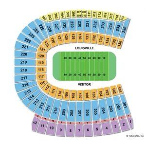 Pa Pa Johns Cardinal Football Statium Setting Chart Louisville United States With Images Chart Seating Charts Papa Johns