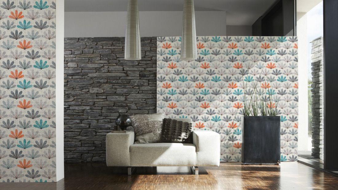 Schöner Wohnen Tapete 943763; simuliert auf der Wand
