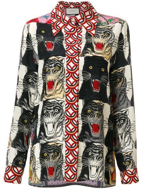 b61e228e GUCCI animal print shirt. #gucci #cloth #shirt | Gucci | Animal ...