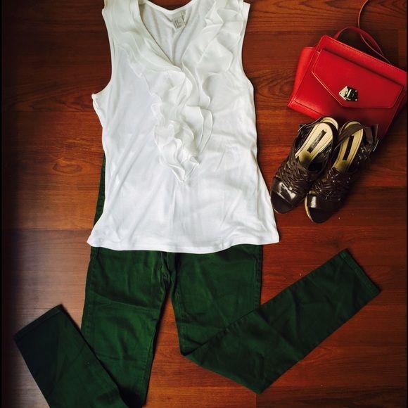 H&M top Medium size white H&M blouse Zara Tops Blouses