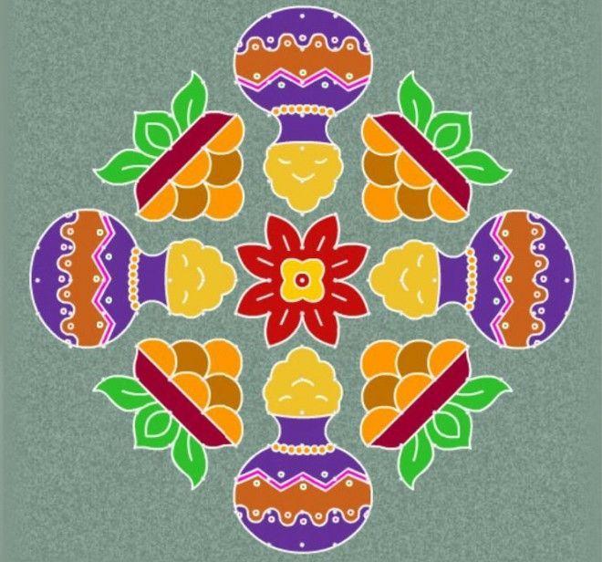22 Beautiful Pongal Kolam And Pongal Rangoli Designs Http Itcolossal Com Rangoli Check More Pattern Design Drawing Rangoli Border Designs Rangoli Designs