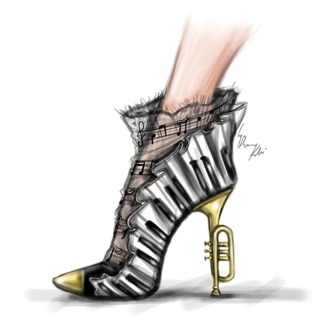 Shamekh Bluwi fanciful shoe sketch   Fashion illustration ...