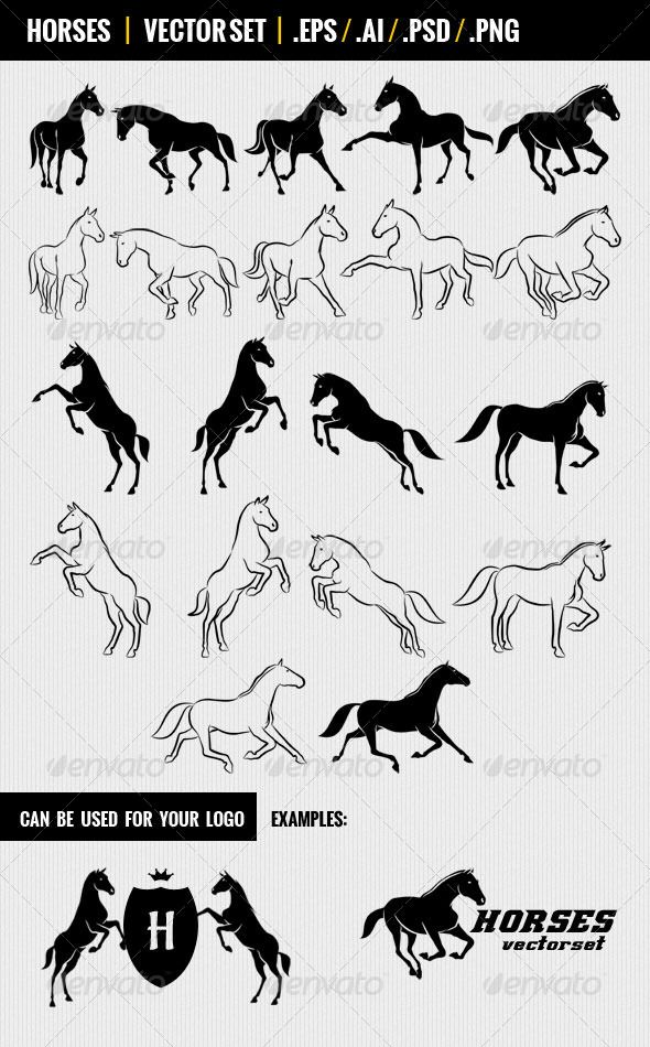 Pin By Bobbi Auble On Vectors Horse Silhouette Horse