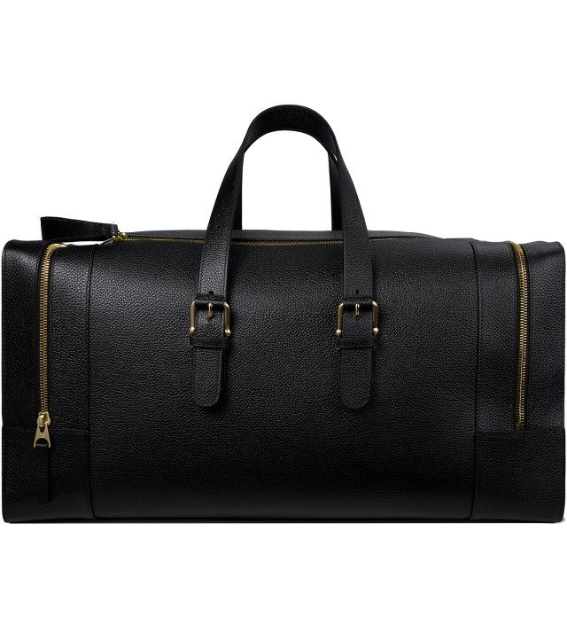 413c88cd4f93 THOM BROWNE Black Grained Leather Duffle Bag Picture Hypebeast Store