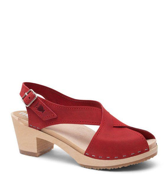 Leather Clogs   Wooden Shoes   Handmade   Womens Sandals   Heels   Strap   Womens  Clogs   Sandals fo 32995cda7