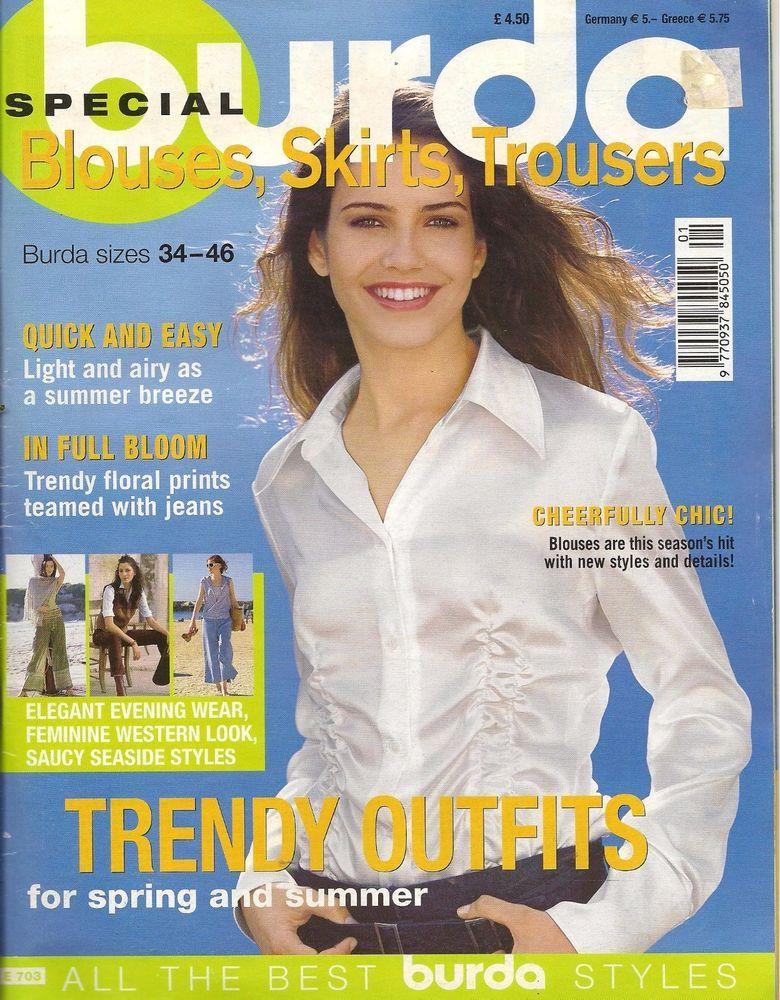 Special Burda Blouses Skirt Trousers Magazine Sizes 34 46 Autumn Winter