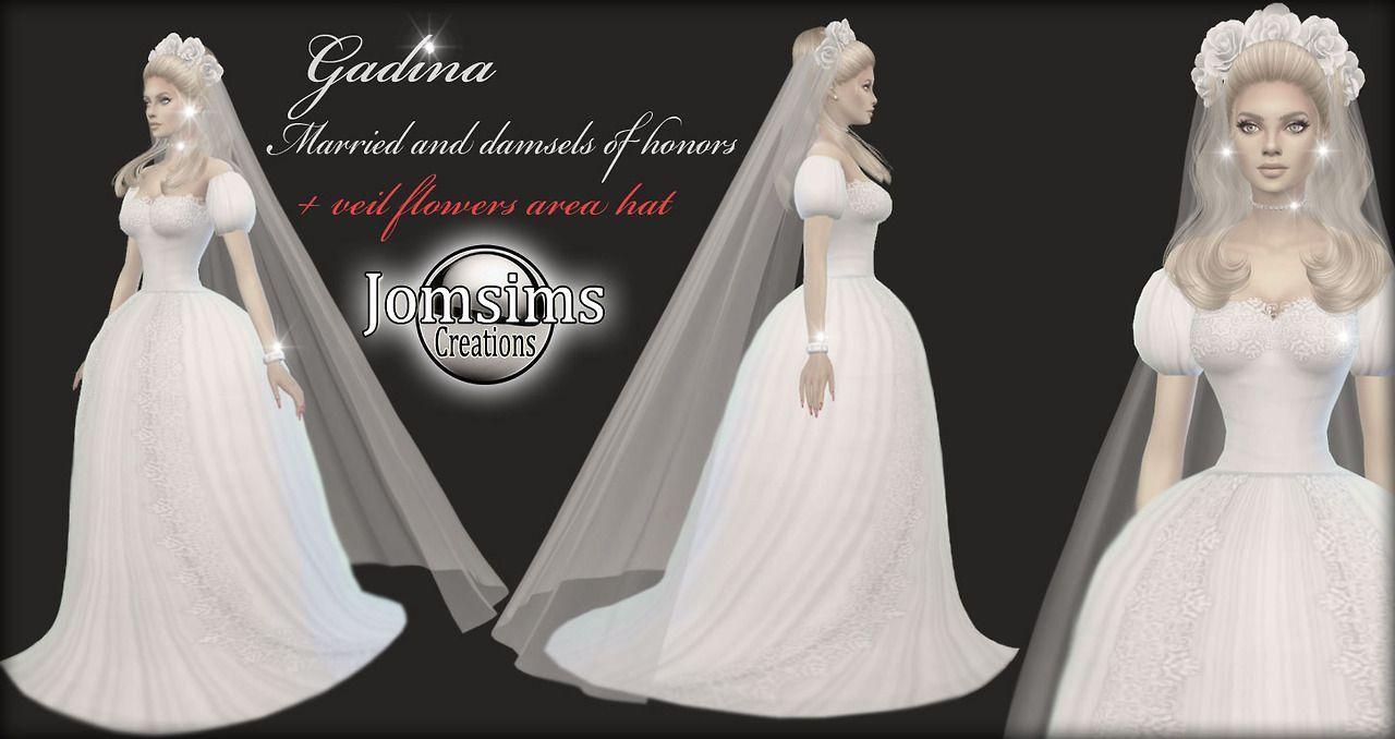 Sims 4 Wedding Veil.Gadina Wedding Marie Et Demoiselles D Honneur Sims 4 Pour Elle
