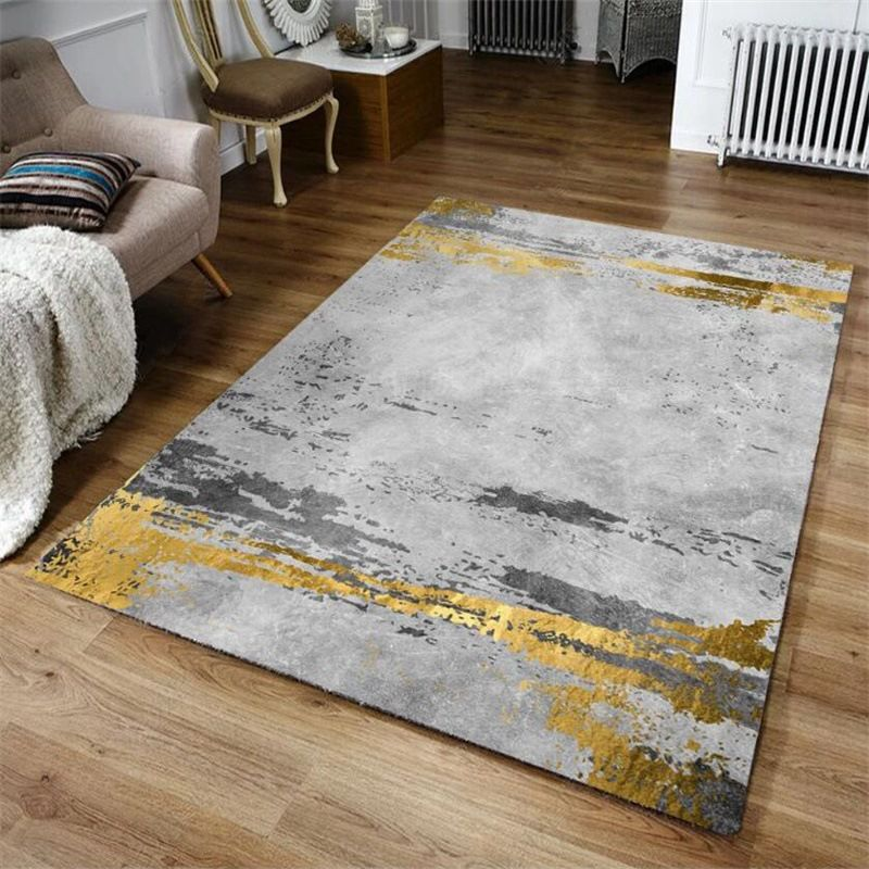 Modern Abstract Yellow Gray Area Rugs Living Room Large Carpet Kitchen Non Slip Floor Mat Bedroom Study Coff In 2020 Bedroom Area Rug Living Room Carpet Area Room Rugs
