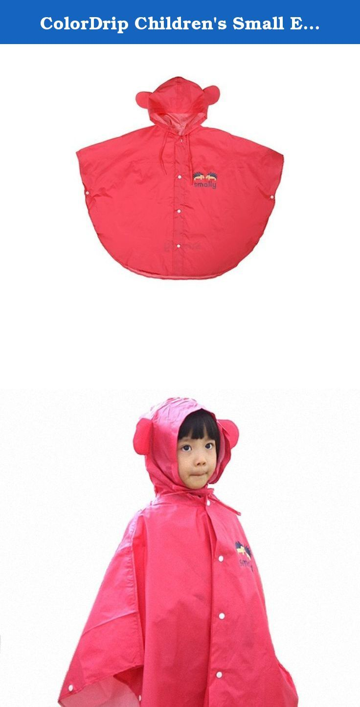 07265ccc5e0c ColorDrip Children s Small Ears Cap Hedgehogs Print Rain Poncho ...