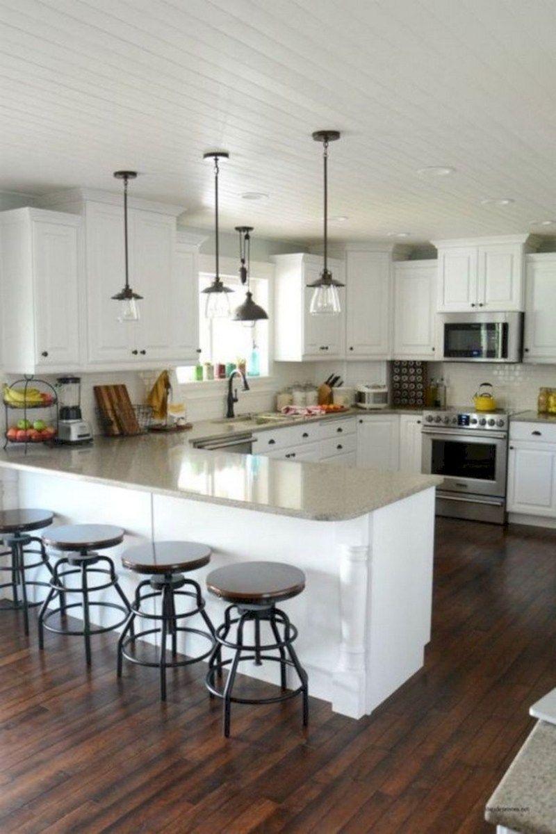 Stunning u shaped kitchen ideas with island 40 | Shapes, Kitchens ...