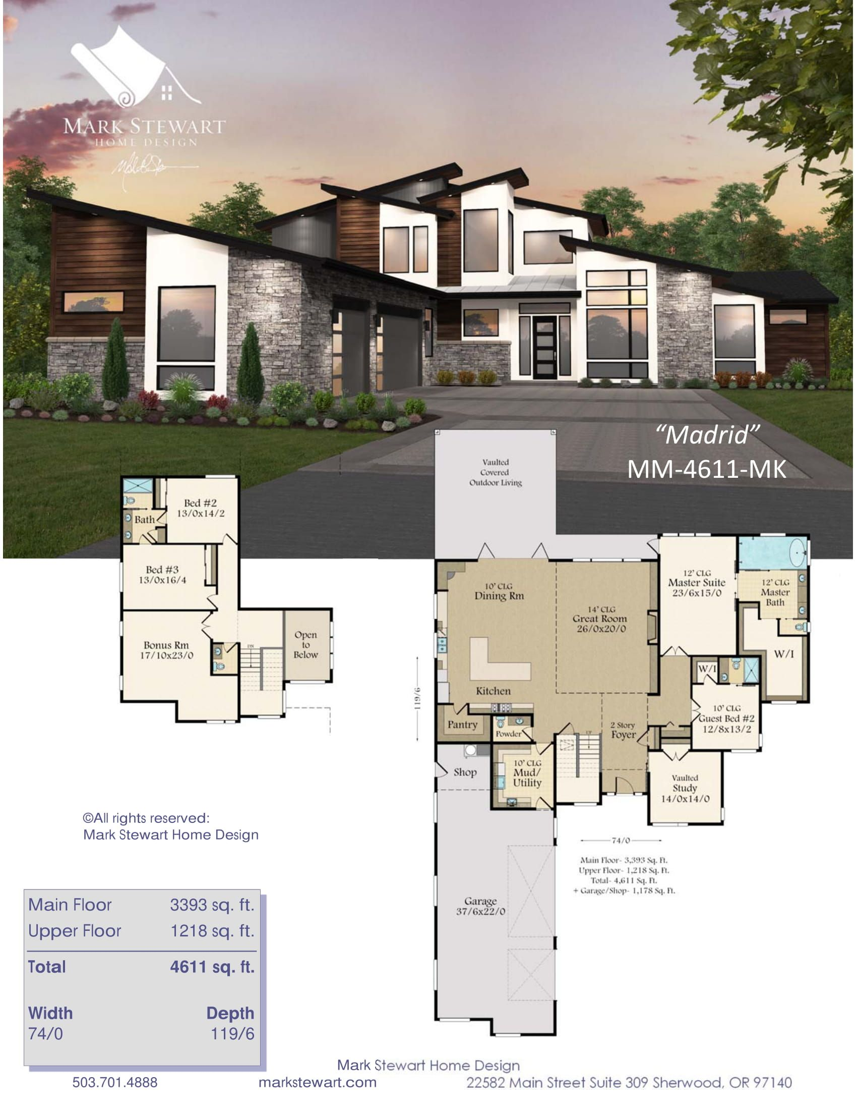 Madrid Large L Shaped Modern House Plan By Mark Stewart Modern House Floor Plans House Plans Mansion Contemporary House Plans