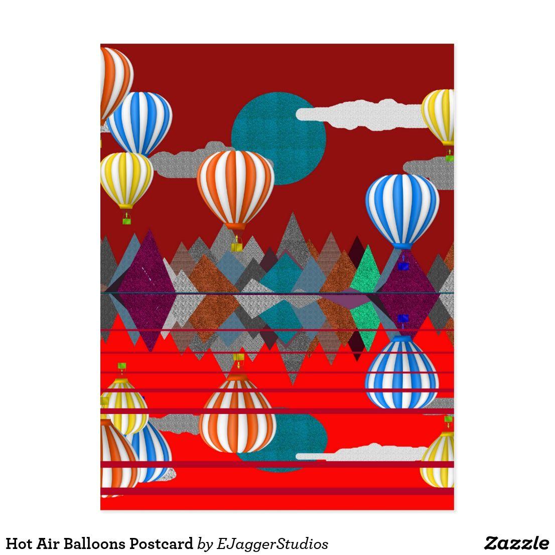 Hot Air Balloons Postcard Postcard, Postcards for sale