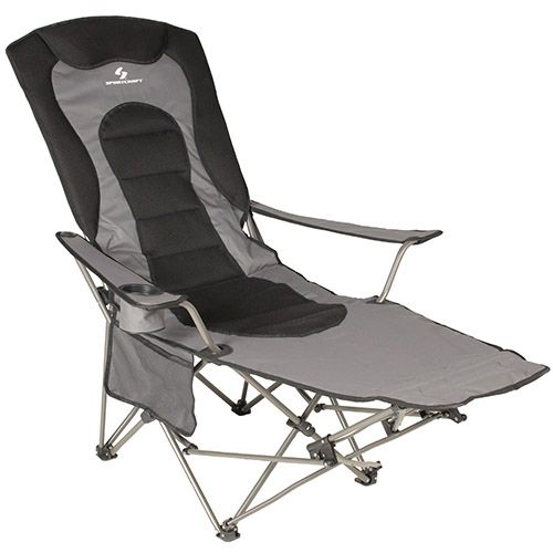 Modern Sportcraft Kick Back Lounger Camping Chair Black Grey Model - Model Of packable chair Ideas
