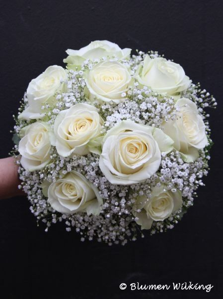 Blumen Wilking brautstrauß in weiß mit und schleierkraut http blumen