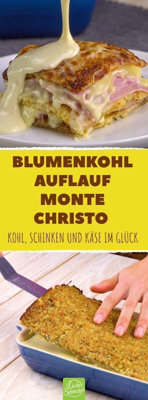 Du schichtest gebackenen Blumenkohl, Schinken & Käse. - Unhealthy ✨ -   #Blumenkohl #gebackenen #Käse #schichtest #Schinken #Unhealthy