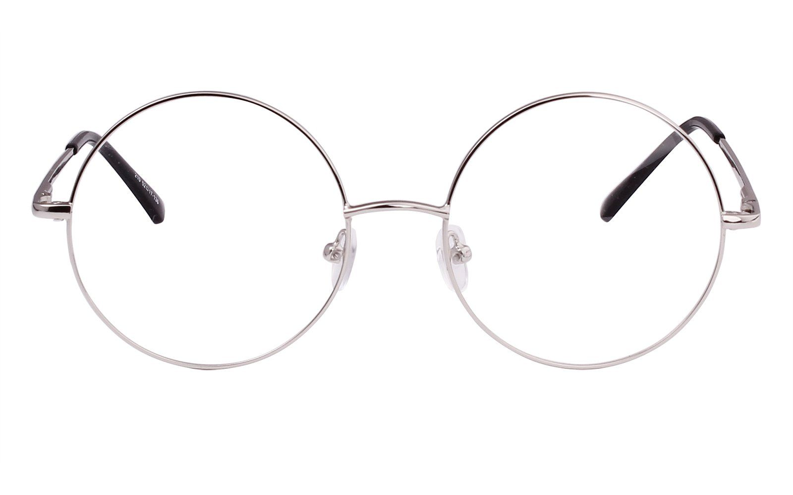 0cbaaa3ba5 Agstum Retro Round Prescription ready Metal Eyeglasses Frame 51mm XLarge  Size Silver 51     Details can be found by clicking on the image.