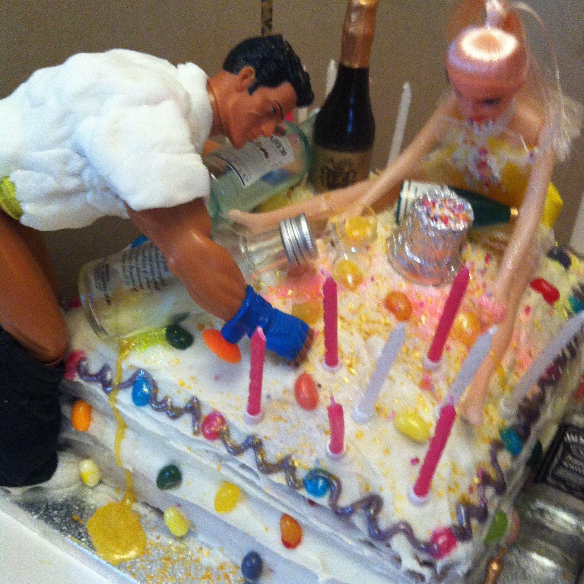 Drunk Barbie And Ken Cake Adult Cake