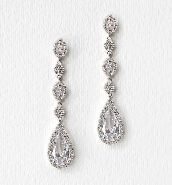 Daisy Long Drop Earrings