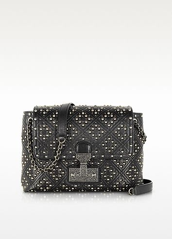 90c82b948a29 Marc Jacobs The Large Single Baroque Quilted Studded Leather Shoulder Bag