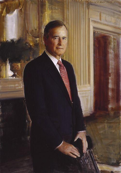 Painting of President George Bush Sr | President George H.W. Bush ...