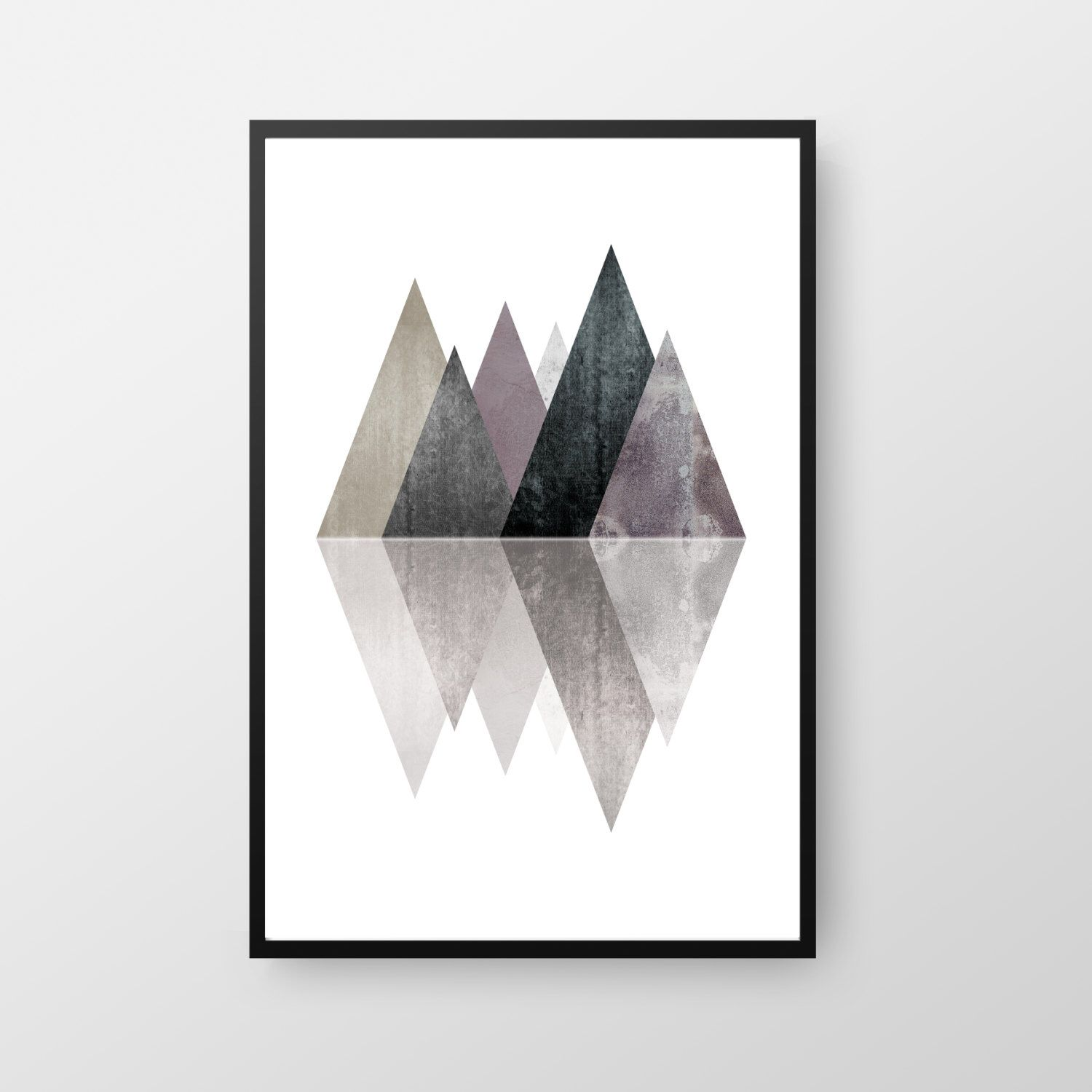 Scandinavian print geometric art mountain scandinavian for Art minimal facebook