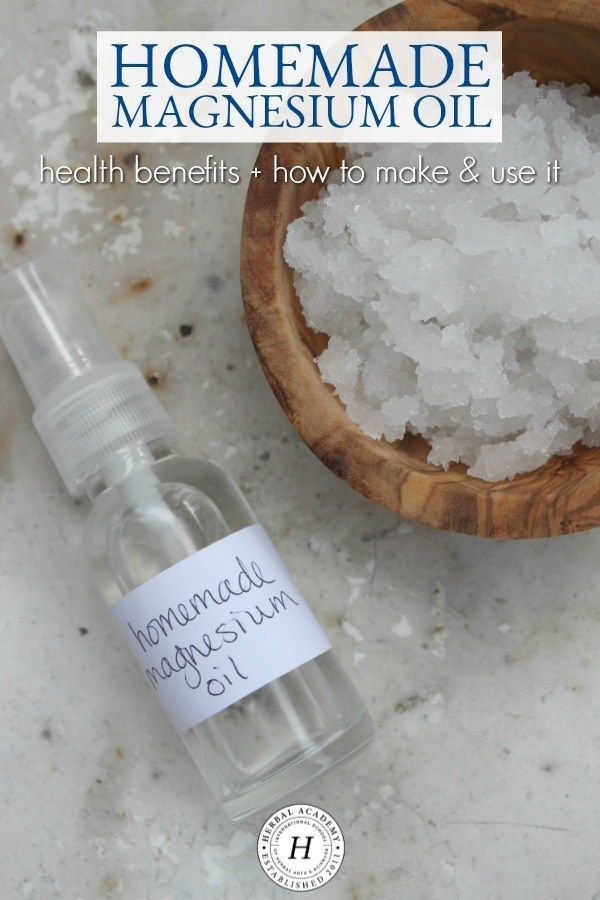 How To Make  Use Homemade Magnesium Oil  Herbal Academy  Magnesium is an essential nutrient that can be used internally or externally for health purposes Learn how to mak...