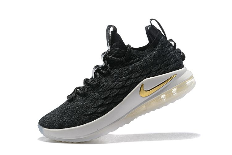 bee2b97b6e0 Cheap Priced Nike LeBron 15 Low Black Metallic Gold Mens Basketball Shoes  On sale