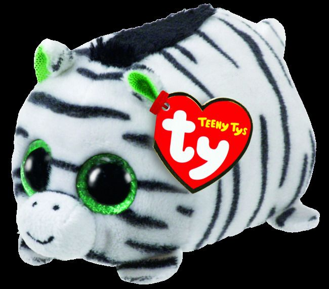 983327fd924 TY Beanie Boo Teeny Ty s Zilla the White Zebra - Soft stackable plush toy -  NEW