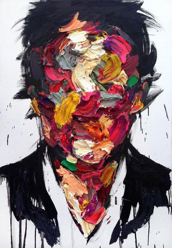Auffallende abstrakte Portraits, die auf unheimliche Weise menschliche Gefühle ausdrücken #eyeshaveit