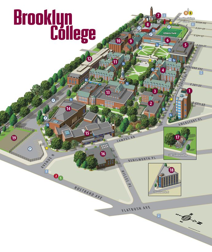 Brooklyn College Campus Map Brooklyn College | Campus Map | Campus map, Campus, College campus