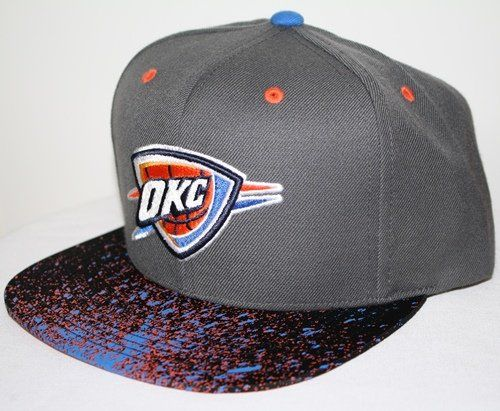 info for d4a1d 2adb8 Oklahoma City Thunders Mitchell Ness NBA Splatter Snapback Hat - Price    26.99