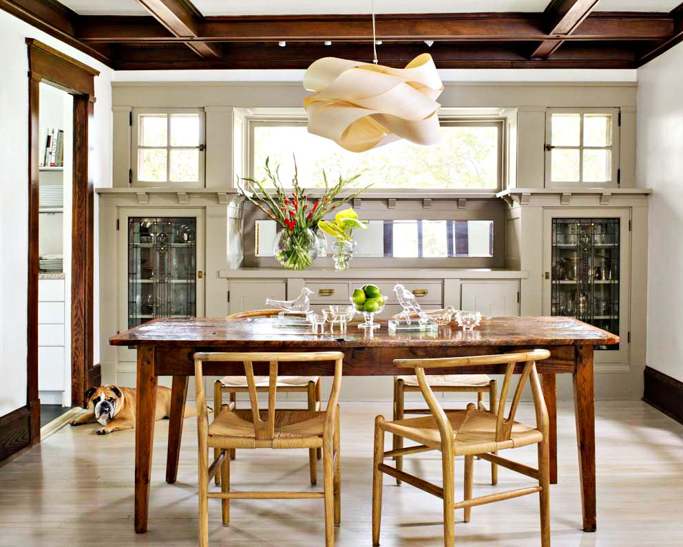 House Tour Seeing The Light Built In Buffet Craftsman Dining Room Dining Room Light Fixtures