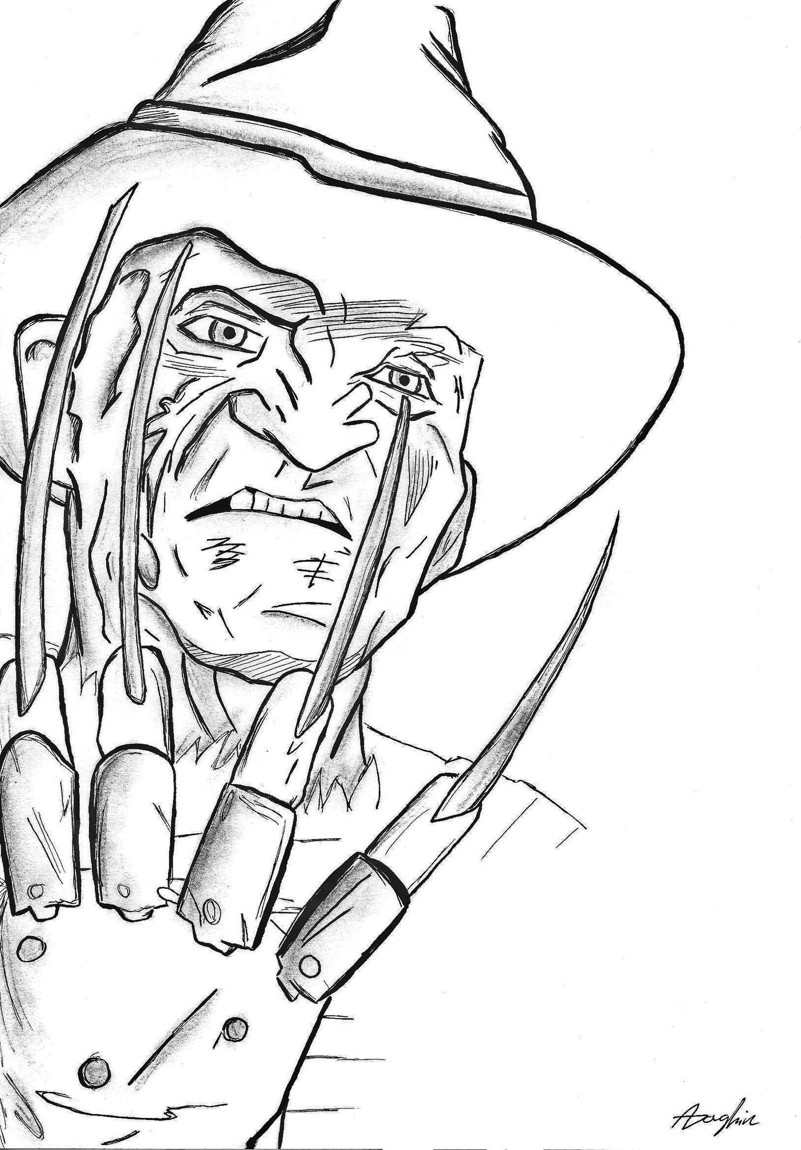 Pin By Conny Sanders On Kleurplaten Monster Coloring Pages Freddy Krueger Coloring Pages