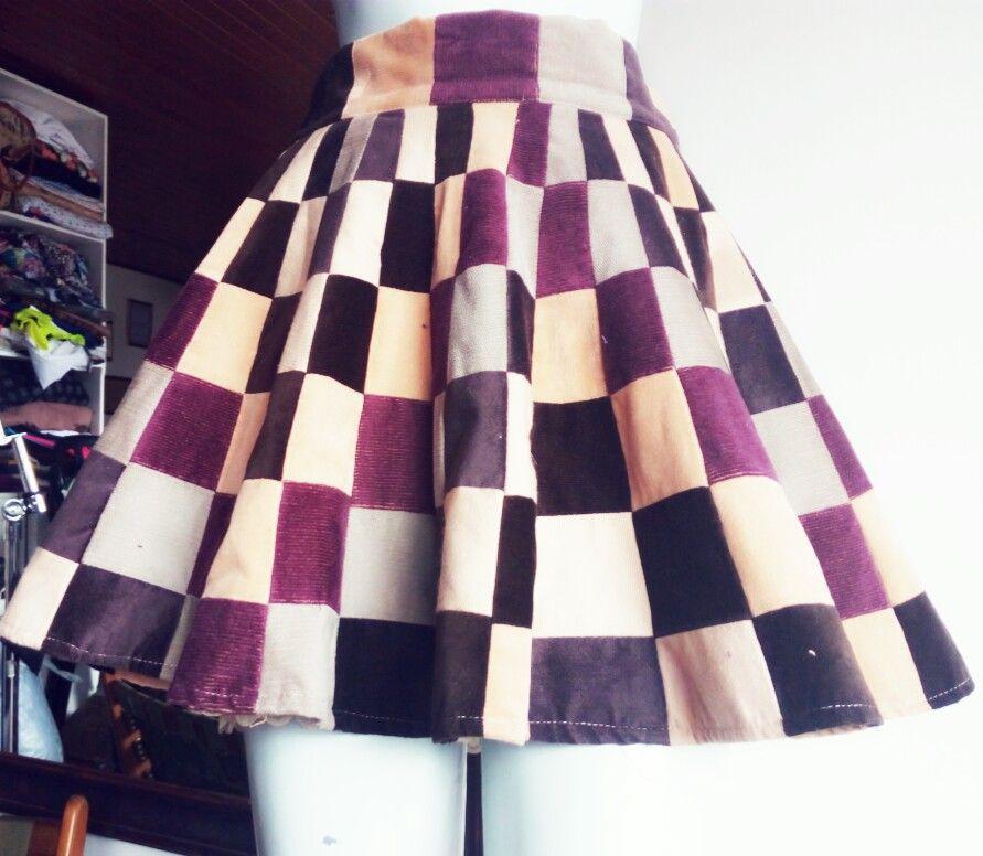 1569fc65d Falda patchwork con reutilización técnica mandala | moda ...