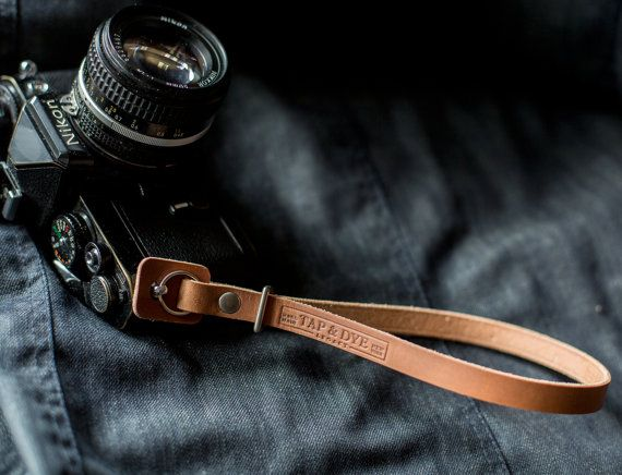 Handmade Leather Camera strap Olympus omd Fuji X100 by TAPandDYE